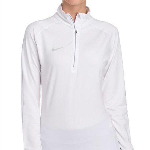 Nike Tops - NEW Nike 1/4 Zip White Pullover Size XS